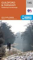 Guildford & Farnham Map | Godalming & Farnborough | Ordnance Survey | OS Explorer Map 145 | England | Walks | Hiking | Maps | Adventure