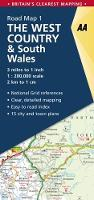 AA Road Map West Country & Wales (AA Road Map Series 01) (AA Road Map Britain)