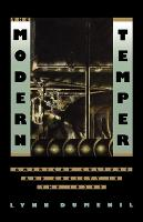 Modern Temper: American Culture and Society in the 1920s