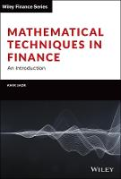 Mathematical Techniques in Finance: An Introduction