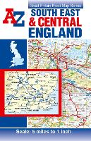 South East & Central England Road Map (A-Z Road Map)